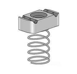 M6 Plated Steel Strut Nut (Long Spring)